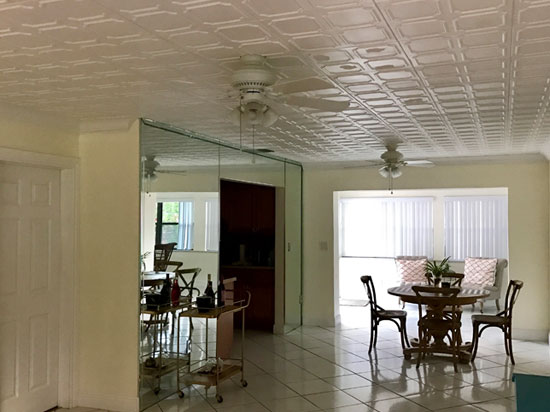 Bostonian Glue-up Styrofoam Ceiling Tile 20 in x 20 in - #R01 - Plain White