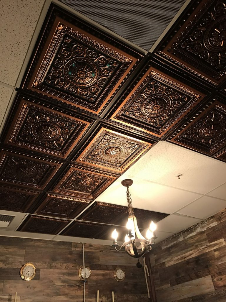 La scala faux tin ceiling tile 24x24 223 dct gallery and dynamically changed our ceiling we had to cut several of the titles and that was a breeze we will be buying more and upgrading more of our rooms dailygadgetfo Image collections