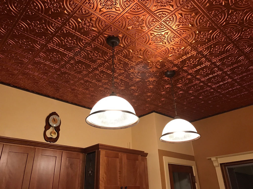 How to make faux tin ceiling tiles