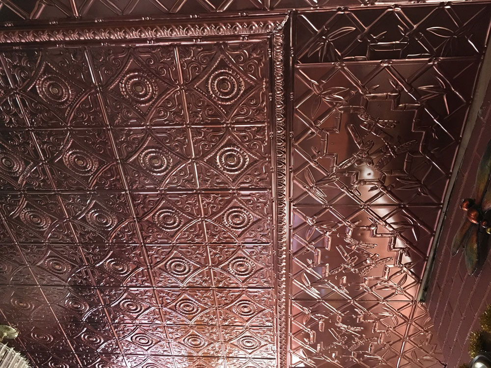 Copper tile ceiling 17 best ideas about copper ceiling on for Individual ceiling tiles for sale