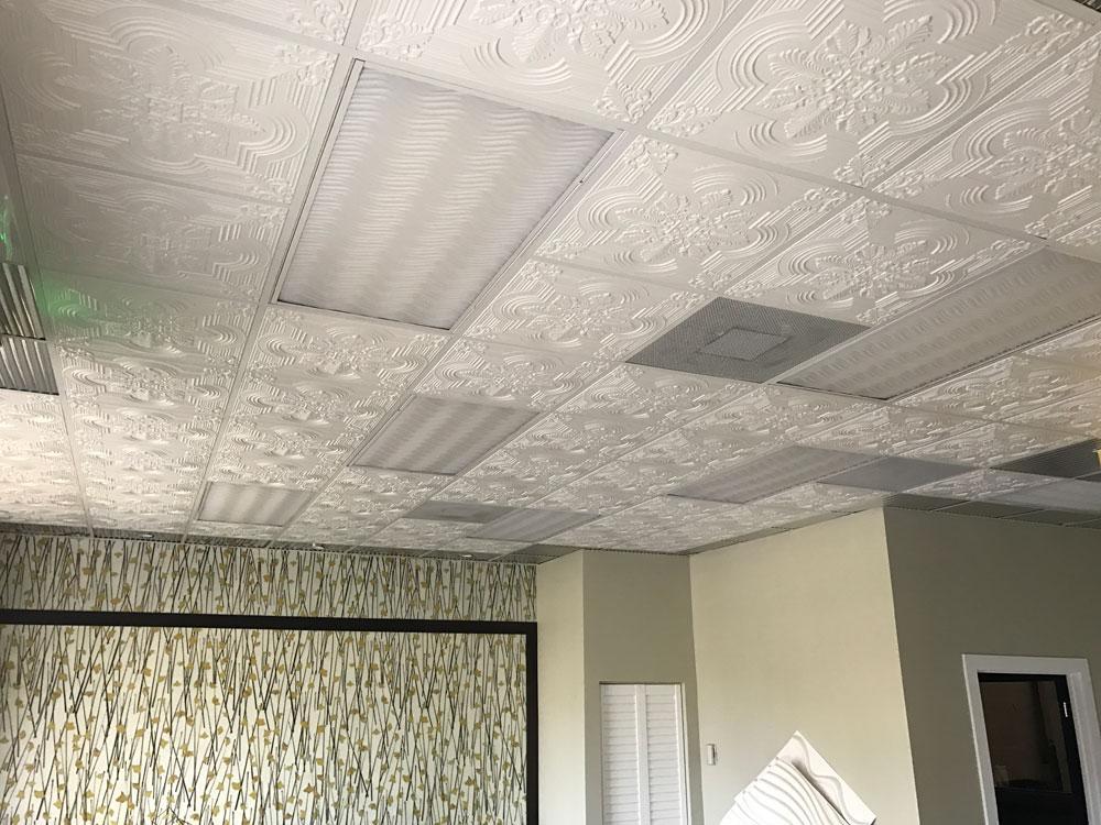 Large Snowflake - Faux Tin Ceiling Tile - 24″x24″ - #206 ...