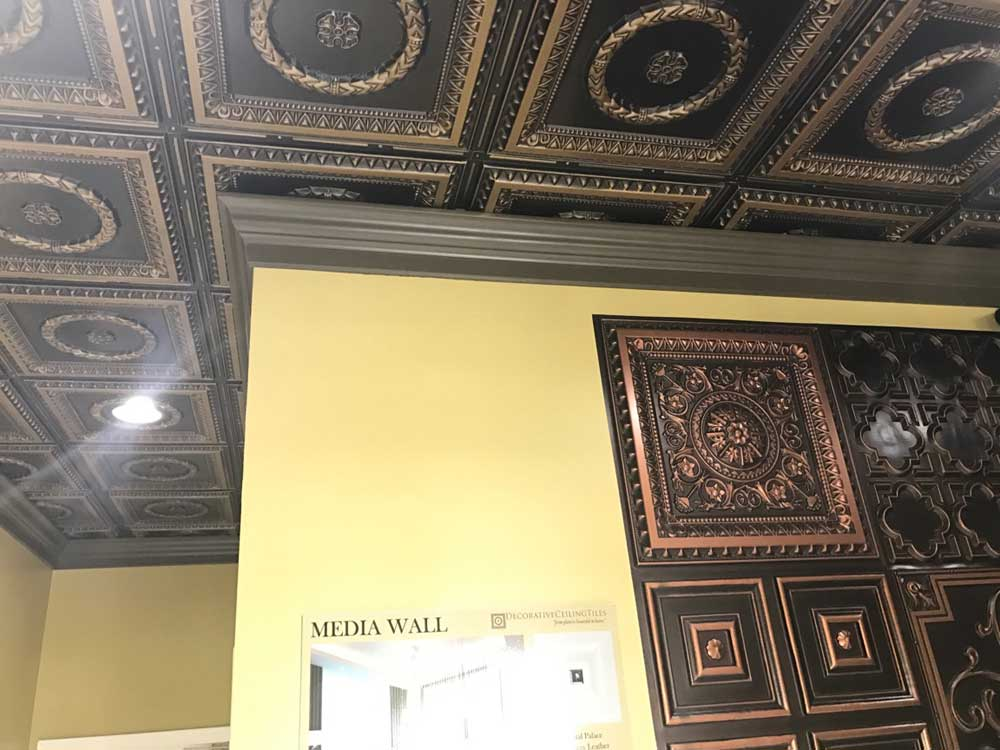 Reproduction tin ceiling tiles