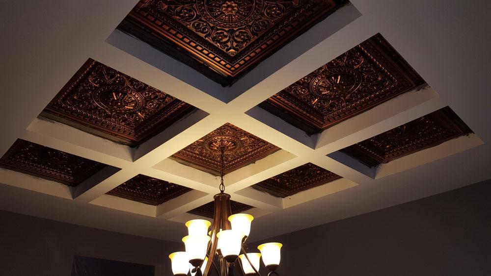 Da Vinci Faux Tin Ceiling Tile Drop In 24x24 215 Dct