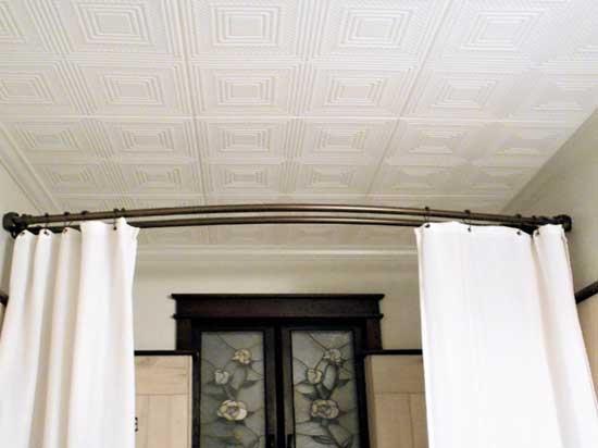 Nested Squares Glue-up Styrofoam Ceiling Tile 20 in x 20 in - #R11 - Plain White