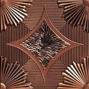 "Sunset Boulevard - Faux Tin Ceiling Tile - 24""x24"" - #201"
