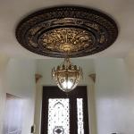 Arabic Caprice II - FAD Hand Painted Ceiling Medallion - #CCMF-116-2
