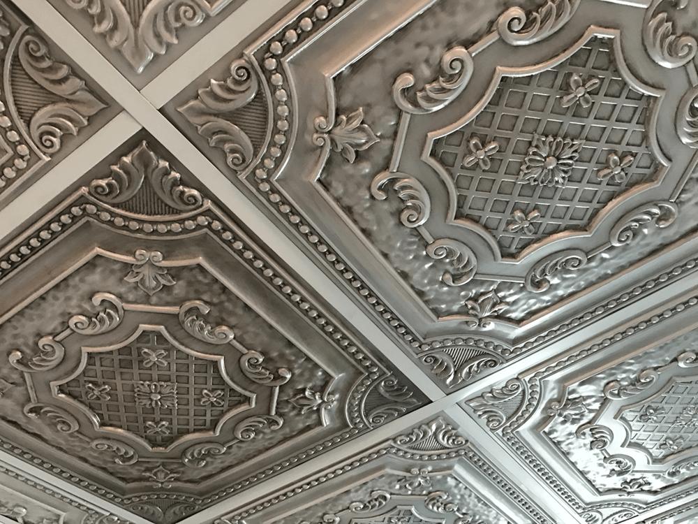 elizabethan shield u2013 faux tin ceiling tile u2013 u2013 dct 04 - Faux Tin Ceiling Tiles
