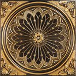"Rose Window - Faux Tin Ceiling Tile - 24""x24"" - #238"