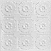 """Sunflowers - Styrofoam Ceiling Tile - 20""""x20"""" - #R136"""