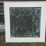 "Elizabethan Shield – Tin Ceiling Tile – 24""x24"" – #2421"