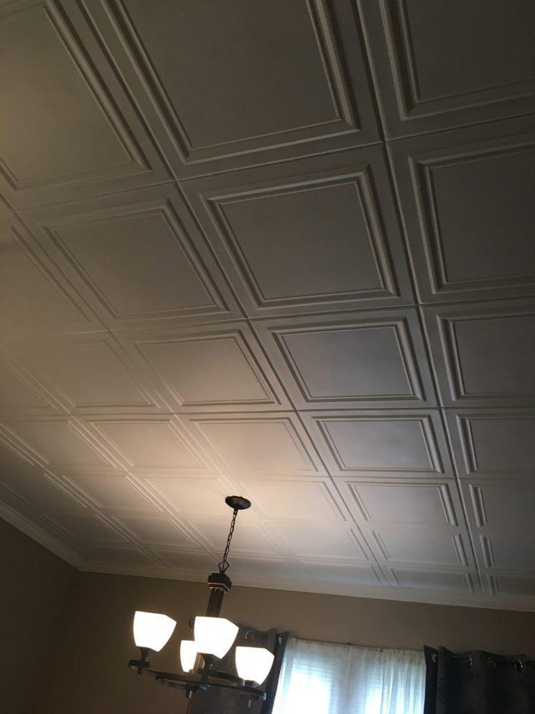 Line Art Styrofoam Ceiling Tile 20 X20 R 24 Dct