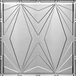 Art Deco Triangles - Aluminum Ceiling Tile - #2403