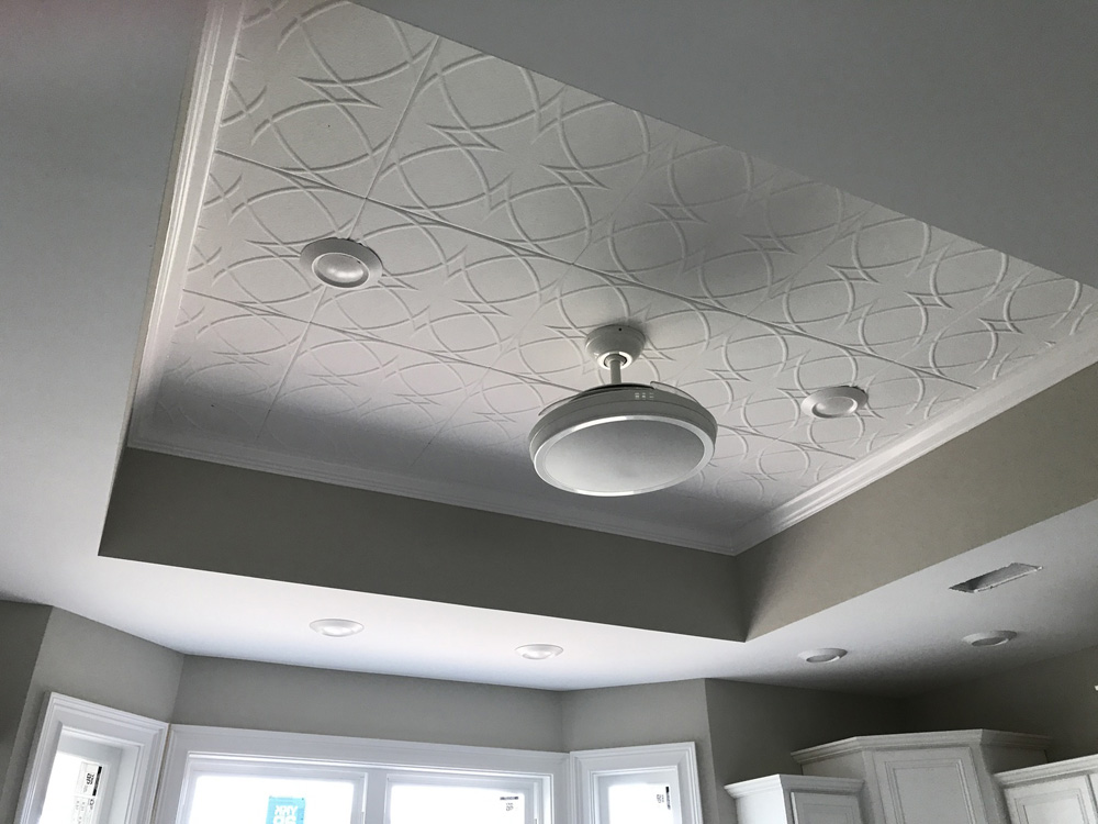 Circles And Stars Styrofoam Ceiling Tile 20x20 R82 Dct