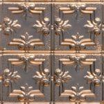 Detailed Fleur de Lis - Copper Ceiling Tile - 1202DD