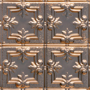 Detailed Fleur de Lis - Copper Ceiling Tile - 1202DD