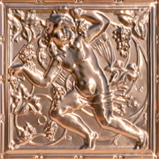 "D'vine Cherub - Copper Ceiling Tile - 24""x24"" - #2484"
