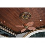 Gilded Leaves - FAD Hand Painted Ceiling Medallion - #CCMF-081