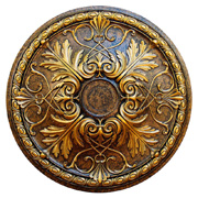 Golden Passion - FAD Hand Painted Ceiling Medallion - #CCMF-112