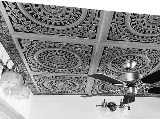 Grandma's Doilies – Faux Tin Ceiling Tile – 24″x24″ – #211