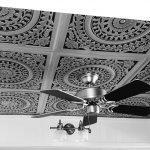 "Grandma's Doilies - Faux Tin Ceiling Tile - 24""x24"" - #211"