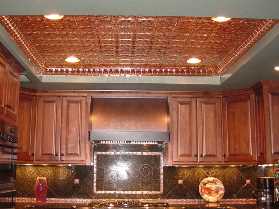 Mini Fluer de Lis – Copper Ceiling Tile – #0605