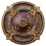 Perpetual Harmony II - FAD Hand Painted Ceiling Medallion - #CCMF-128-2