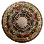 Shady Impression - FAD Hand Painted Ceiling Medallion - #CCMF-035-2