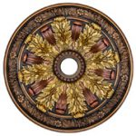 Sunshine Illusion - FAD Hand Painted Ceiling Medallion - #CCMF-036