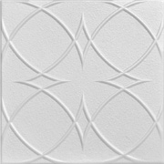 "Circles and Stars - Styrofoam Ceiling Tile - 20""x20"" - #R82"
