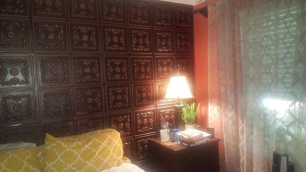 Le Cau Faux Tin Ceiling Tile Glue Up 24 X24 130