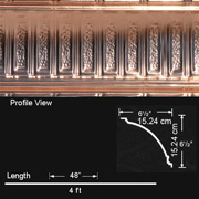 Stately Pillars - Copper Cornice - Nail up - #EC0600