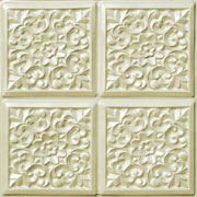 "Sweet Bouquets - Faux Tin Ceiling Tile - Glue up - 24""x24"" - #109"