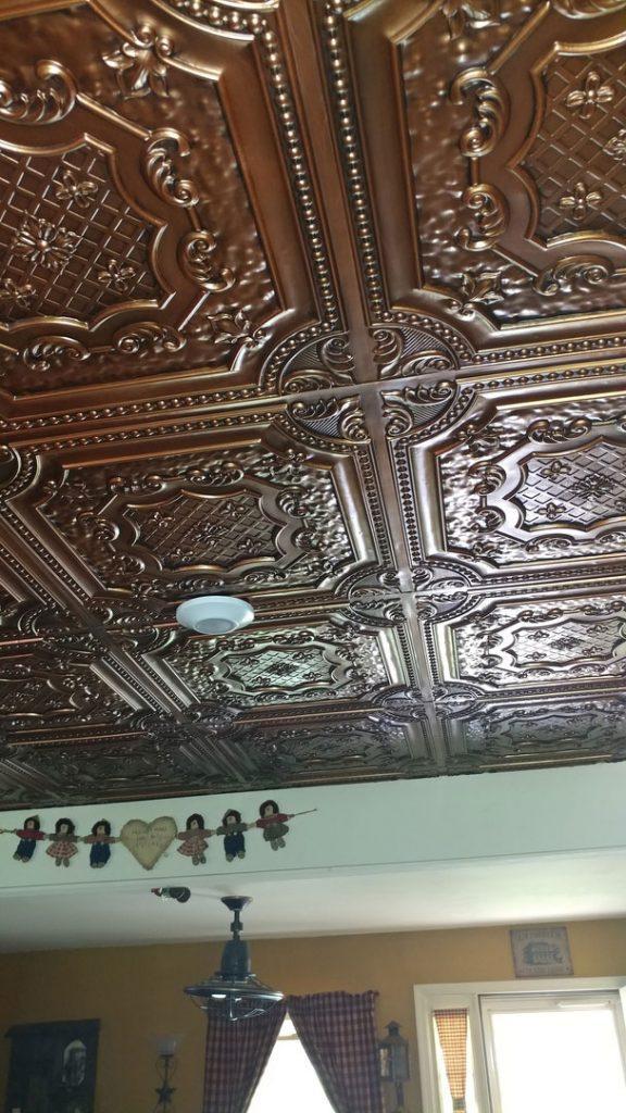 Elizabethan Shield - Faux Tin Ceiling Tile - 24″x24″ - # ...