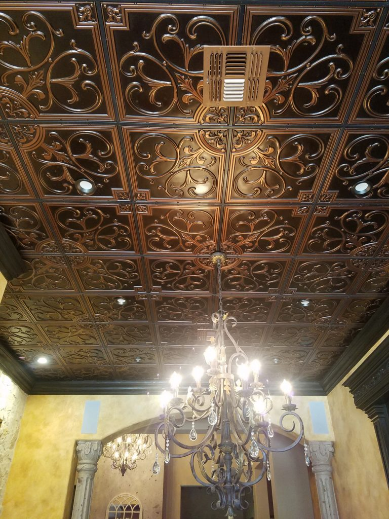 no matter what the reason you will love our 204 lilies and swirls decorative ceiling tiles anywhere you install them