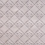"Fleur de Lis - 3 "" Pattern - Faux Tin Backsplash Roll - #WC 80"