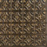 "Gothic Reims - Faux Tin Ceiling Tile - 24""x24"" - #150 Antique Gold"