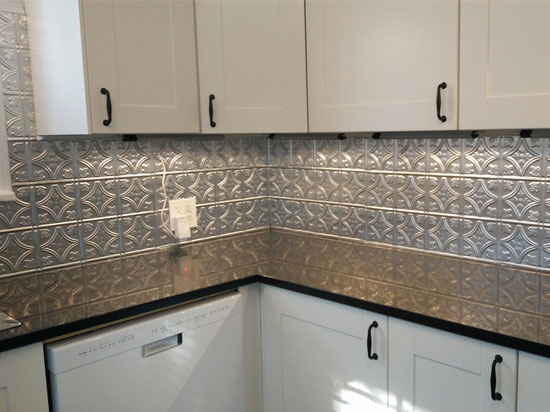 Princess Victoria – Aluminum Backsplash Tile – #0604