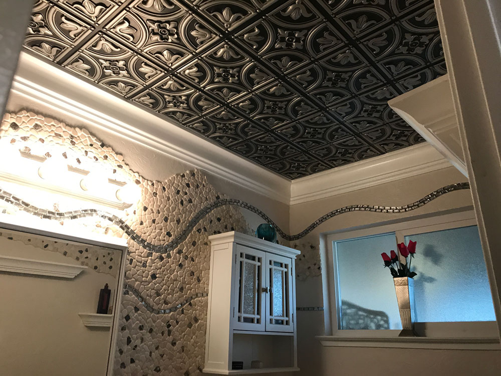 how to cut tin ceiling tiles