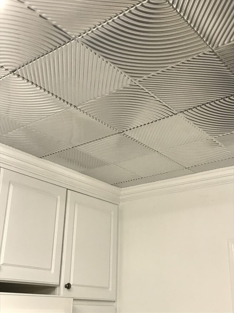 Kitchen ceiling tile ideas photos decorativeceilingtiles revolution mirroflex ceiling tiles pack brushed nickel dailygadgetfo Choice Image