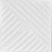 "Styrofoam Ceiling Tile - 20""x20"" - #R124 Plain White"
