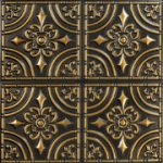 """Wrought Iron - Faux Tin Ceiling Tile - Glue up - 24""""x24"""" - #205"""