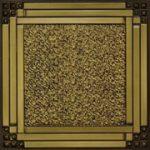 """Deco Corners - Faux Tin Ceiling Tile - 24""""x24"""" - #209 - Antique Brass"""