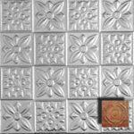 Flower Power - Aluminum Ceiling Tile - #0612 - Rusted Adobe