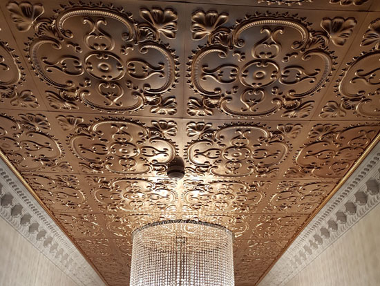 Gold ceiling tiles ideas photos decorativeceilingtiles alhambra faux tin ceiling tile 24x24 217 aloadofball Gallery