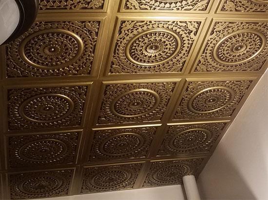 Grandma's Doilies Quartet – Faux Tin Ceiling Tile – Glue up – 24″x24″ – #117