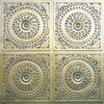 """Grandma's Doilies Quartet - Faux Tin Ceiling Tile - Glue up - 24""""x24"""" - #117"""