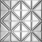 Jazz Age - Tin Ceiling Tile - #0606 - Polished Brass