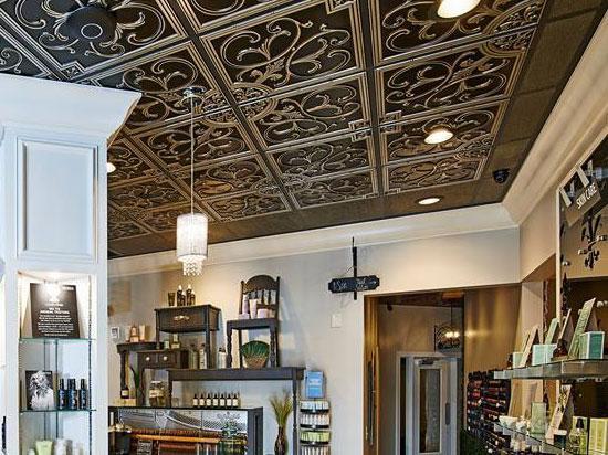 Hammered Faux Tin Ceiling Tile / Filler - 24