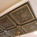 "La Scala - Faux Tin Ceiling Tile - 24""x24"" - #223 - Antique Brass"