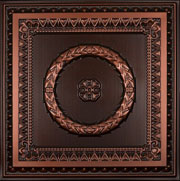 Laurel Wreath - Faux Tin Ceiling Tile - #210 - Antique Copper